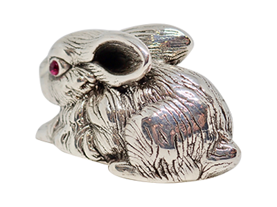 COLLECTABLE EDWARDIAN STYLE HARE FIGURINE 925 STERLING SILVER HALLMARKED